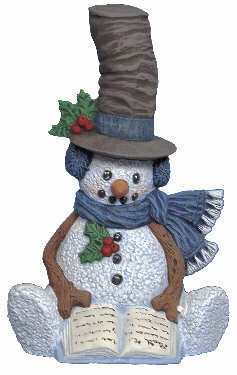 #2664 Snowman - with Hat  6 1-4