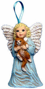#2670 Angel Ornament - with Kitty  2 3-4""