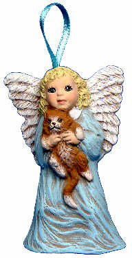 #2670 Angel Ornament - with Kitty  2 3-4