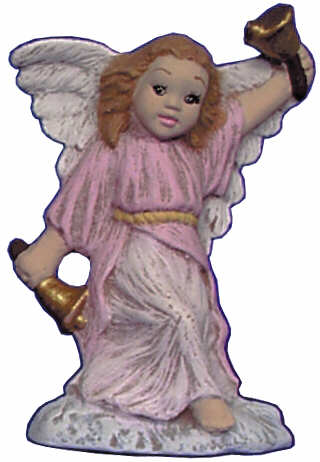 #2679 Angel Ornament, Ringing Bell  2 1-2