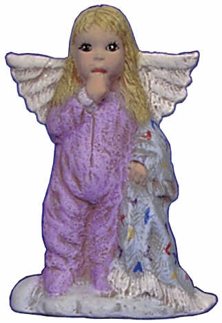 #2682 Angel Ornament, with Baby Blanket  2 1-2