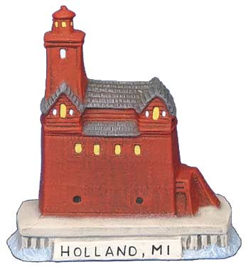 #2715 Small Lighthouse - Holland, Mi  3 1-4