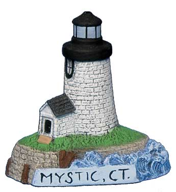 #2719 Small Lighthouse - Mystic, Ct  2 1-2