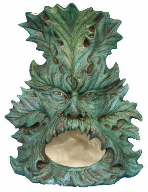 #2725 Green Man Chiminea  7