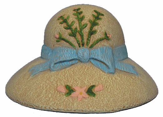#2738 Hat, with Small Bow  3 1-4
