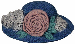 #2740 Hat, with Big Rose & Plume  3 1-4""
