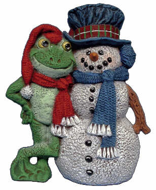 #2760 Snowman & Frog 5 1-2