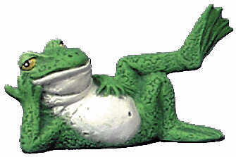 #2780 Attitude Frog Ornament Laying on Back  3 1-4