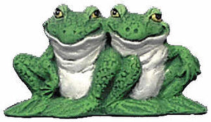 #2781 Attitude Frog Ornament (2 Sitting Together)  3 1-4""
