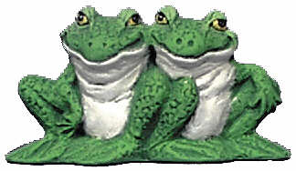 #2781 Attitude Frog Ornament (2 Sitting Together)  3 1-4