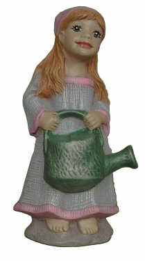 #2810 Girl with Watering Can to Pond  4