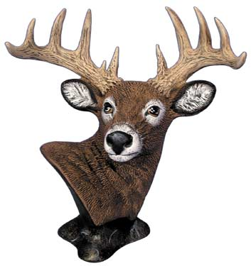 #2848 White Tail Deer Bust  7 1-2