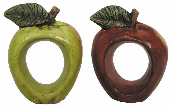 #2854 Fruit Napkin Rings, Apple  (2 in mold)  2 1-2