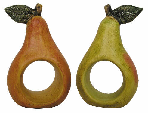 #2855 Napkin Rings, Pear  (2 in mold)  2 3-4
