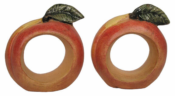 #2856 Fruit Napkin Rings, Peach  (2 in mold)  2 1-4