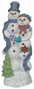 #2878 Elegant Victorian Mr and Mrs Snowman  11""