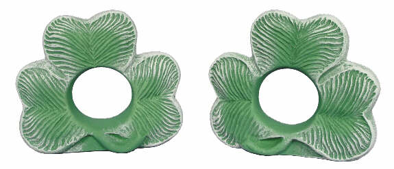 #2906 Shamrock Napkin Rings (2 in mold)  3