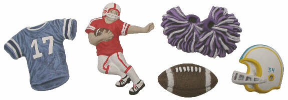 #2941 Football Magnets  2