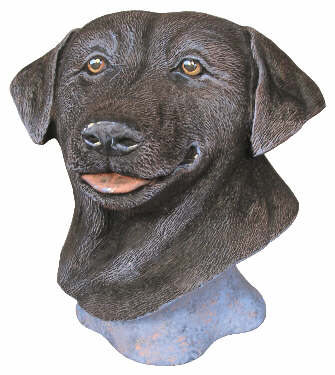 #2942 Large Labrador Retriever Bust  5 3-4