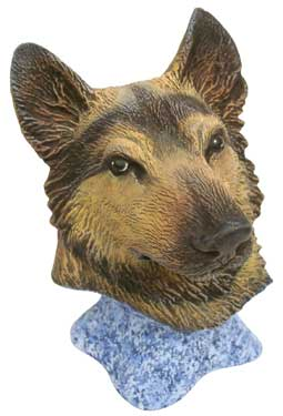 #2990 Dog Bust - German Shepherd  4 1-2
