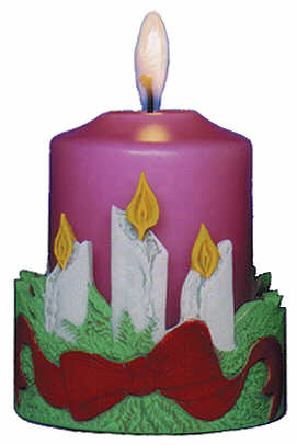 #3008 Candleholder - Christmas Candles  4