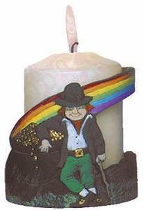 #3012 Candleholder - Leprechaun & Pot of Gold  4""