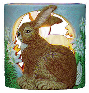 #3035 Candleholder - Rabbit  4