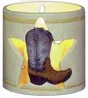 #3039 Candleholder - Cowboy Boot in Star  4