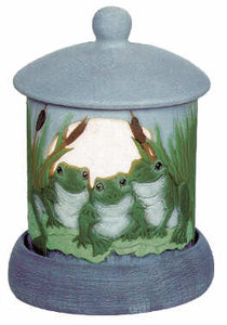 #3042 Candleholder - Frogs  4""