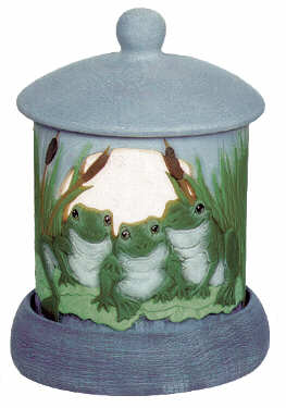 #3042 Candleholder - Frogs  4