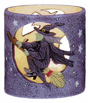 #3064 Candleholder - Witch in Moon  4