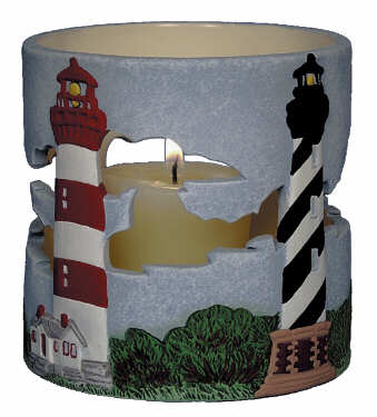 #3089 Candleholder - Outer Banx Lighthouse  4