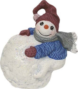 #3207 Snowkid Ornament - on Snowballs Side  3""