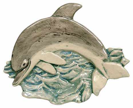 #3223 Tea Bag Holder - Dolphin  4 1-4