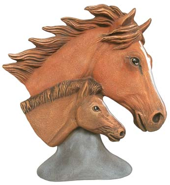 #3231 Mare & Foal Bust - 6 1-2