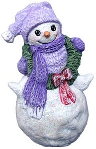 #3249 Snowkid Ornament with Wreath 2-3-4""