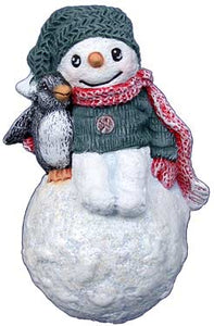 #3250 Snowkid Ornament with Penguin 3""