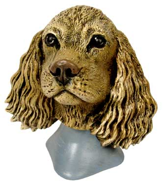 #3264 Dog Bust - Cocker Spaniel  4