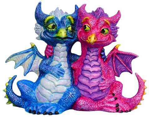 #3293 Dragon with Attitude Two Together  7