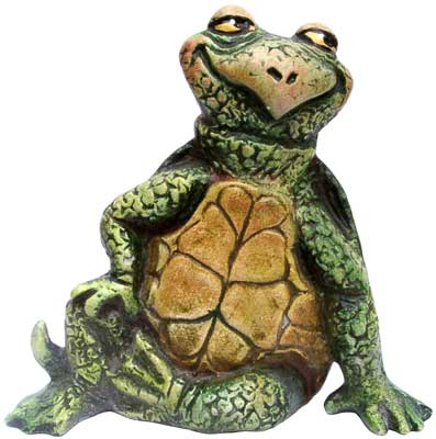 #3305 Small Attitude Turtle Sitting 1 Hand Down - 3-3-4
