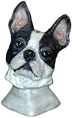 #3320 Dog Bust - Boston Terrier 4-1-4