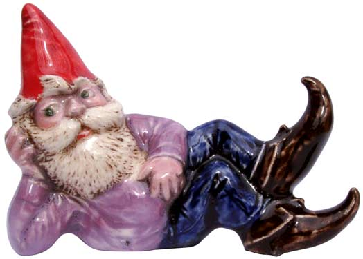 #3340 Small Attitude Gnome Laying on Side - 3-1-2