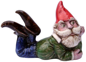 #3342 Small Attitude Gnome Laying on Belly - 3""