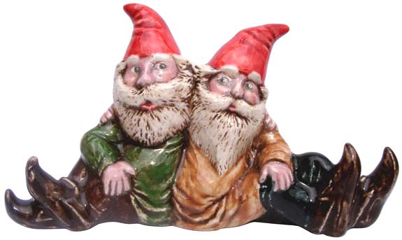 #3343 Small Attitude Gnomes 2 Together - 4-1-4