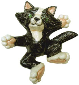 #3379 Lg Cat with Attitude (Laying on Back) 5""