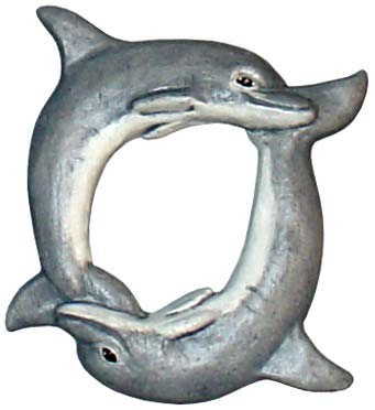 #3424 Photo Frame Magnet or Ornament - Dolphins