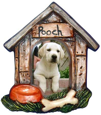 #3430 Photo Frame Magnet or Ornament - Dog House
