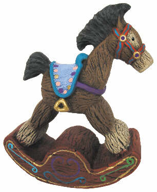 #407 Ornament - Rocking Horse  3 1-2