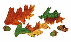 "#723 Leaves (3 in mold)  4"" each"