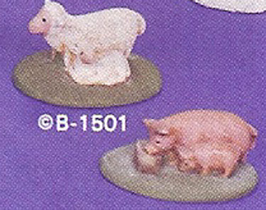 B1501 Village Pigs & Lambs Ceramic Molds